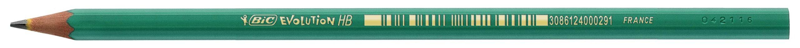 Карандаш BIC Evolution HB заточенный, пластиковый