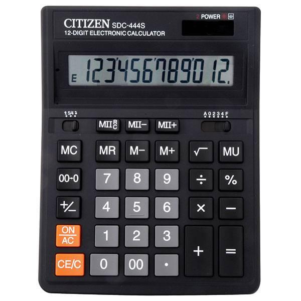 Калькулятор CITIZEN SDS444S 12-разрядный бухгалтерский черный