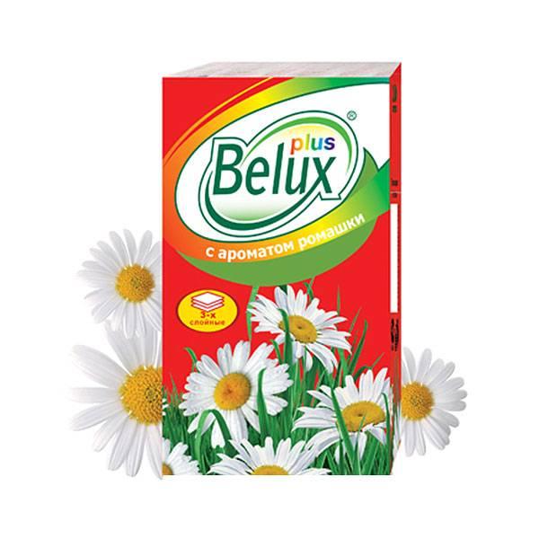Платочки носовые, бумажные, BELUX PLUS, арома