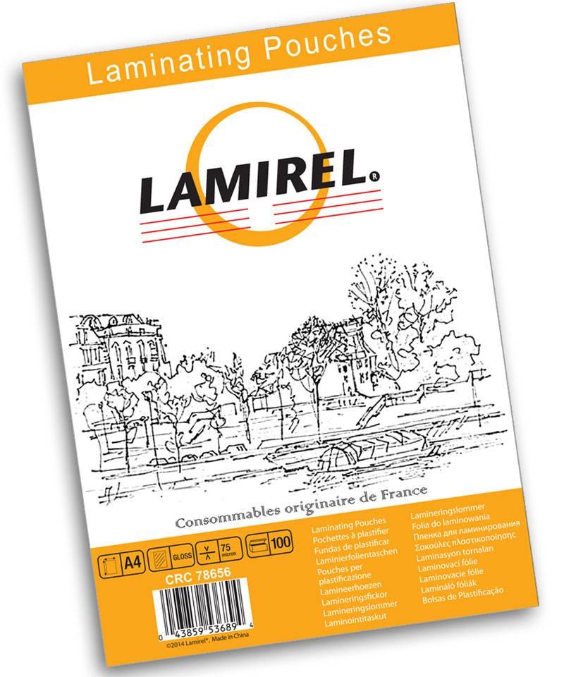 Пленка для ламинирования LAMIREL А4 75 мкм
