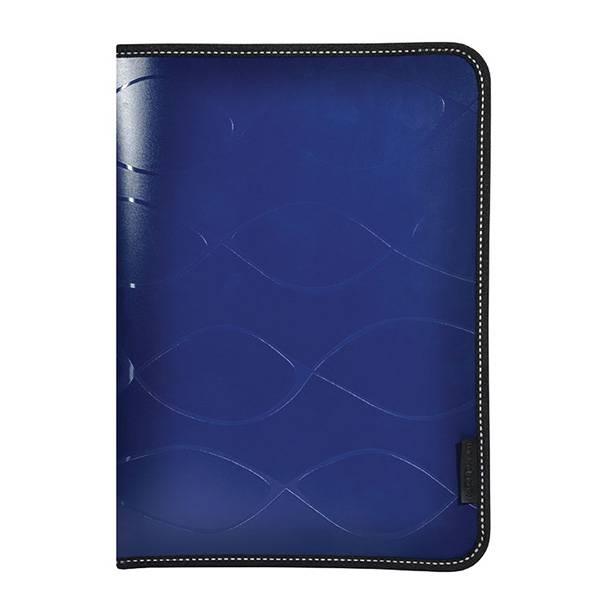 Папка на молнии inФОРМАТ SAFE А4 пластик 500 мкм карман синяя