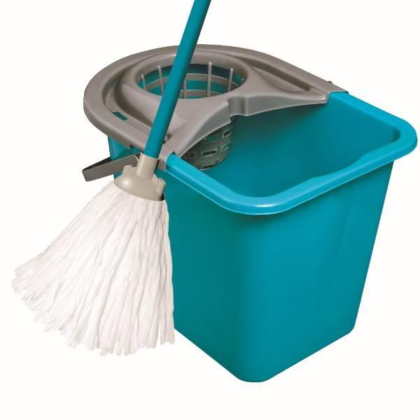 Набор для мытья пола, YORK, ведро, с отжимом, пластик, 14 л