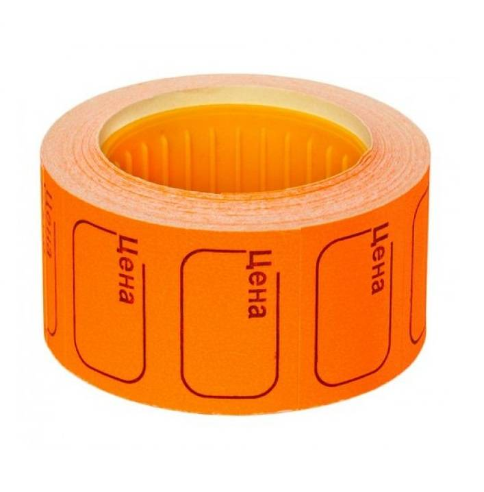 Ценник 25х35 мм оранжевый