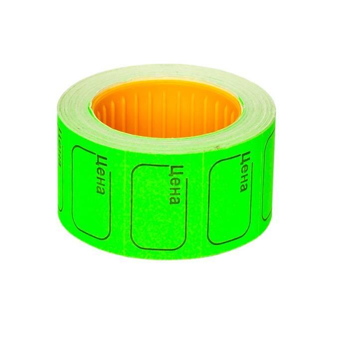 Ценник 20х30 мм зеленый