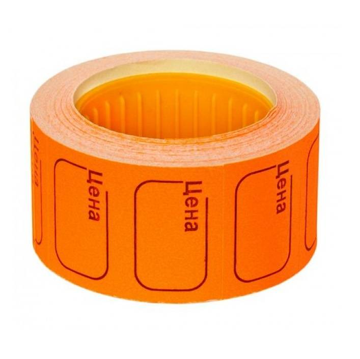 Ценник 50х40 мм оранжевый
