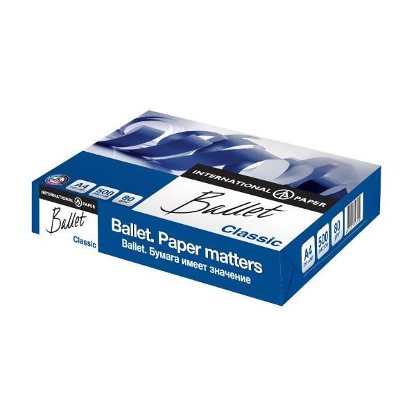 Бумага BALLET CLASSIC А4, 80 г/м2, 500 листов, 153% (CIE)