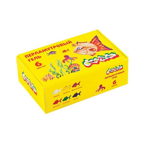 Гель Каляка-Маляка 22 мл, 6 цветов перламутровый 3+