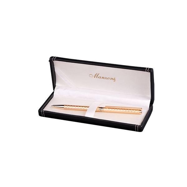 Шариковая ручка Manzoni Asti, золотая, в футляре