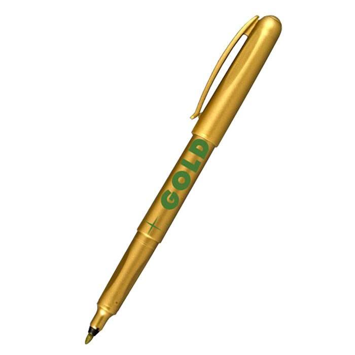Маркер универсальный CENTROPEN GOLD, 1 мм золотой круглый