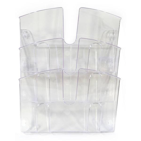 Лотки навесные УНИПЛАСТ 290х215х32 мм, 3 штуки прозрачный пластик
