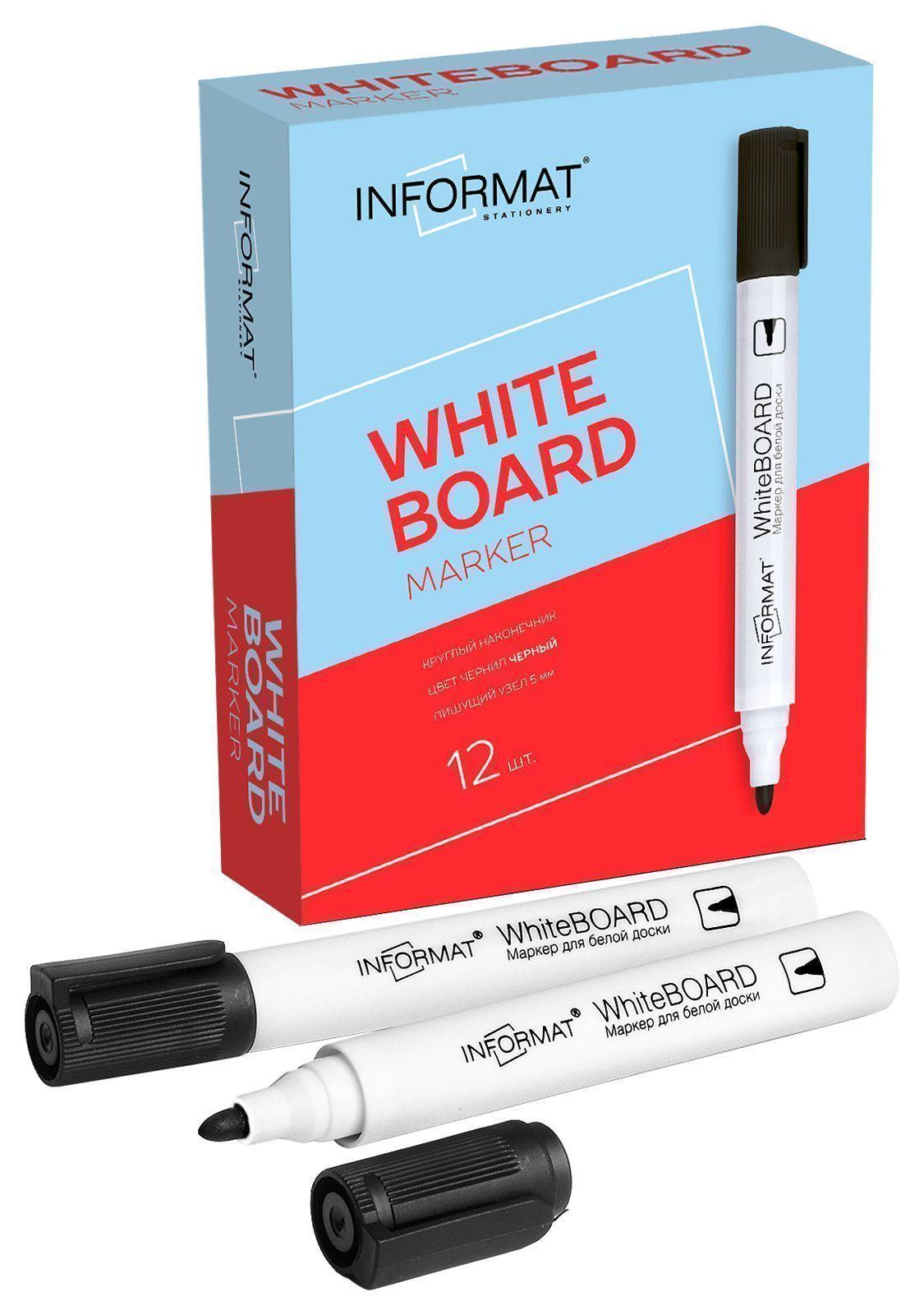 Маркер для досок INFORMAT BOARD 5 мм черный круглый