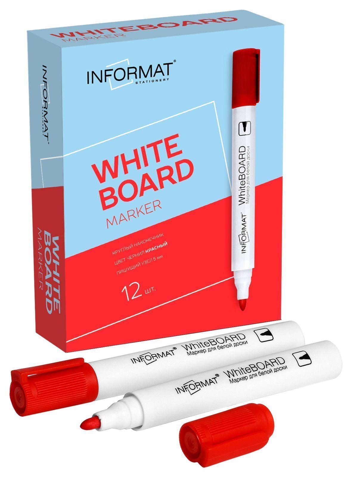 Маркер для досок INFORMAT BOARD 5 мм красный круглый