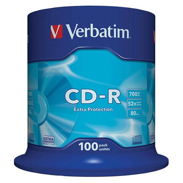 CD-R 700Mb Verbatim 52х100шт туб