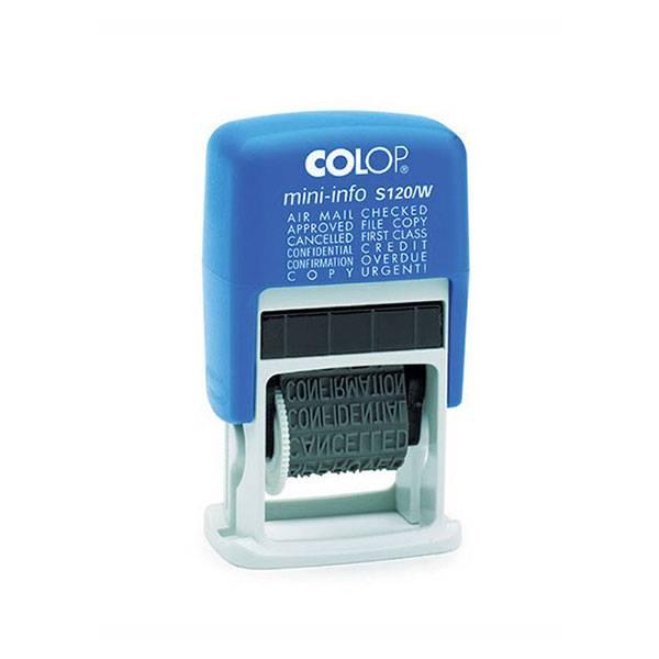 Штамп-мини COLOP с 12 бухгалтерскими терминами, шрифт 3,8 мм, 1 строка, пластик