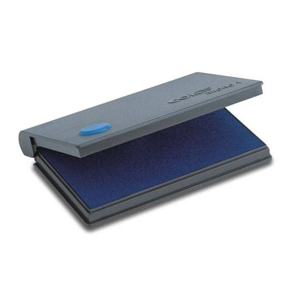 Подушка штемпельная 50х90 мм синяя пластик