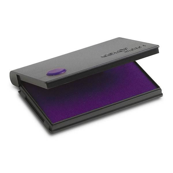 Подушка штемпельная 50х90 мм фиолетовая пластик