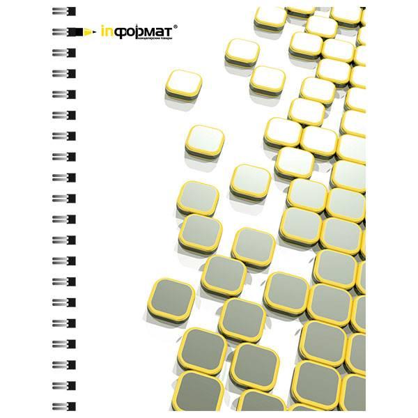 Тетрадь 80 листов PLACER А5 в клетку, обложка мелованный картон, матовая ламинация, на гребне