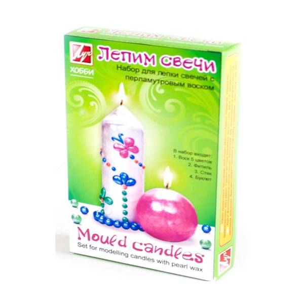 Набор для творчества «Лепим свечи» (перламутровый воск)