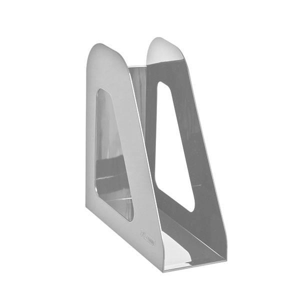 Лоток вертикальный СТАММ ФАВОРИТ ширина 90 мм, серый пластик