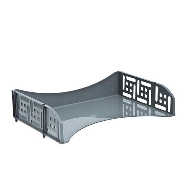 Лоток горизонтальный СТАММ ФИЛД с загрузкой 360 мм серый пластик