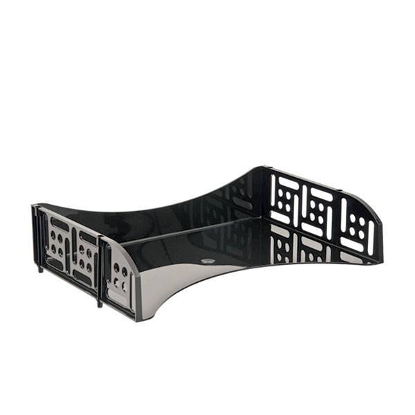 Лоток горизонтальный СТАММ ФИЛД с загрузкой 360 мм черный пластик