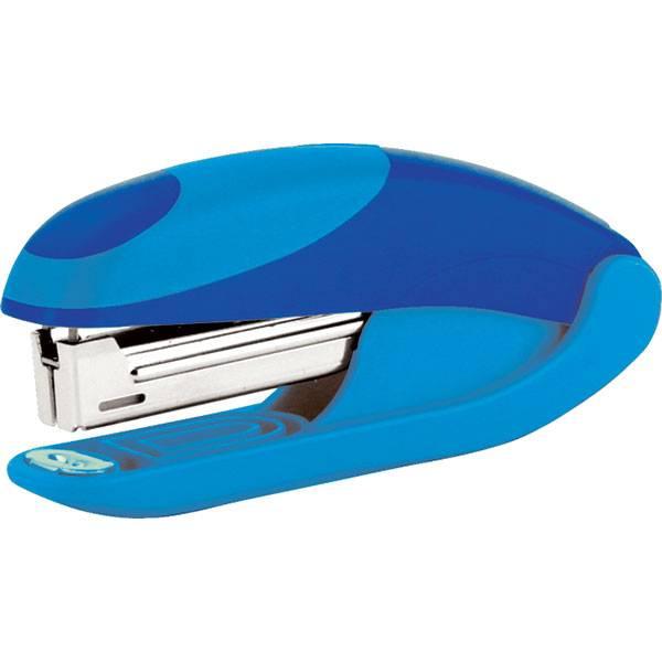 Степлер OMAX №10 до 15 листов, сине-голубой
