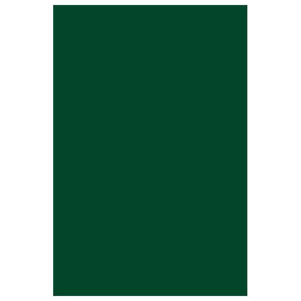 Блокнот А5 50л., мелованный картон, темно-зеленый, гребень