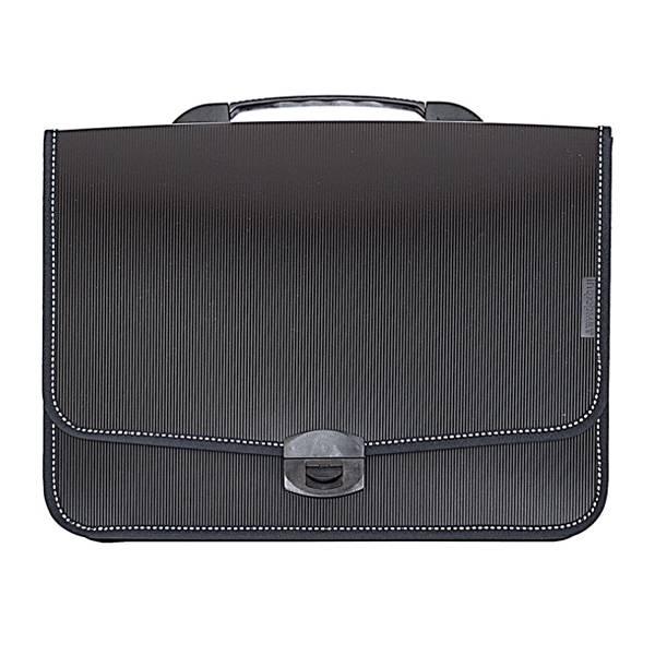 Портфель inФОРМАТ А4, 9 отделений пластик 900 мкм, черный