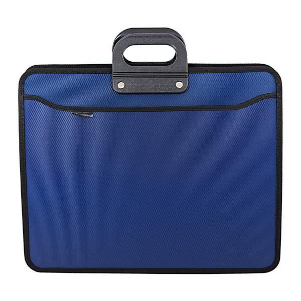 Портфель inФОРМАТ А3, 4 отделения, пластик 900 мкм, синий