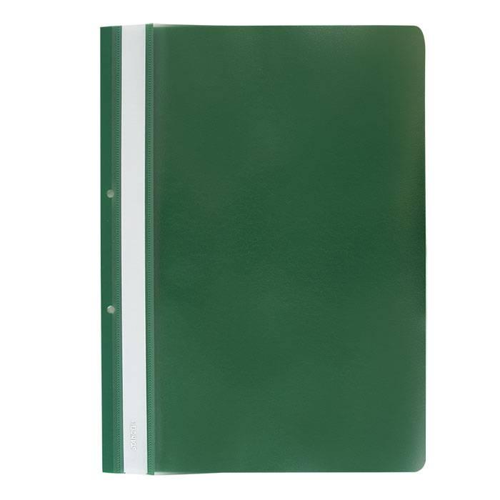 Папка-скоросшиватель Stanger А4, зеленая, пластик 180 мкм, карман для маркировки