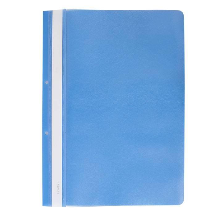Папка-скоросшиватель Stanger А4, голубая, пластик 180 мкм, карман для маркировки