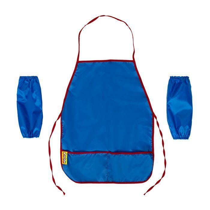 Фартук для труда с нарукавниками Каляка-Маляка, синий, ткань, 4-7 лет