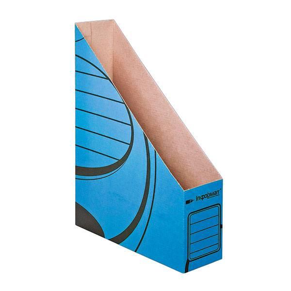Накопитель inФОРМАТ 75 мм А4, синий, микрогофрокартон, собран
