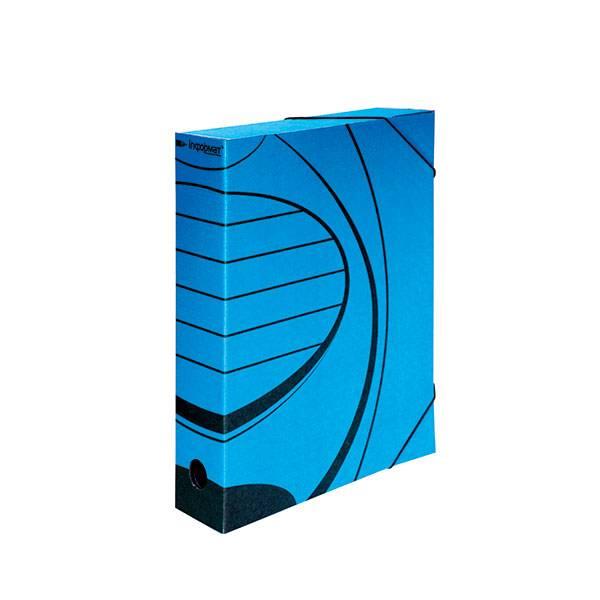 Папка с резинкой inФОРМАТ А4 75 мм микрогофрокартон синяя