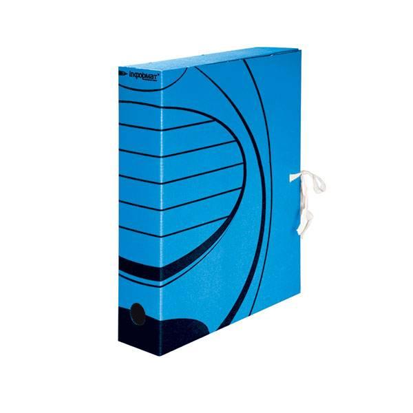 Короб архивный inФОРМАТ 75 мм А4, синий, микрогофрокартон, собран