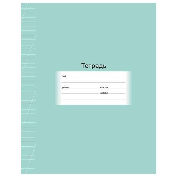 Тетрадь 12 листов ШКОЛЬНАЯ косая в линия, обложка мелованный картон