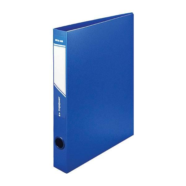Папка с кольцами inФОРМАТ А4, 2 кольца, 40 мм, пластик 700 мкм, синяя
