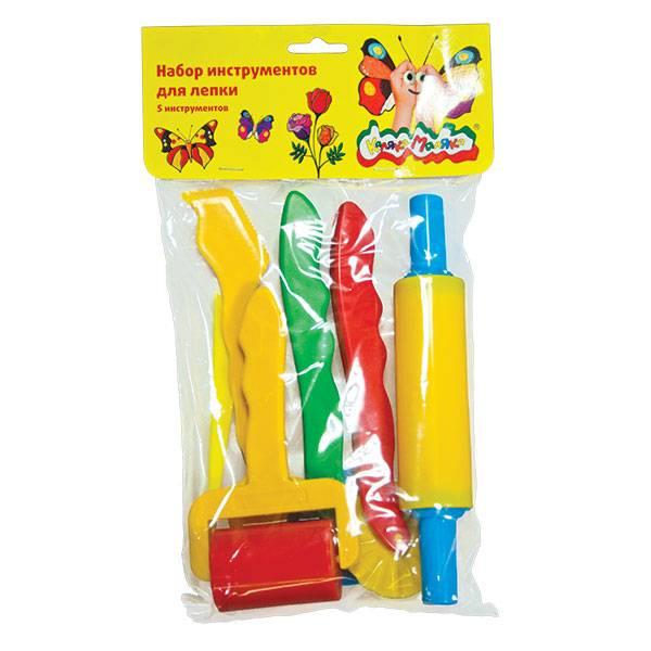 Набор для лепки Каляка-Маляка из пластика 6 предметов, большой, 3+