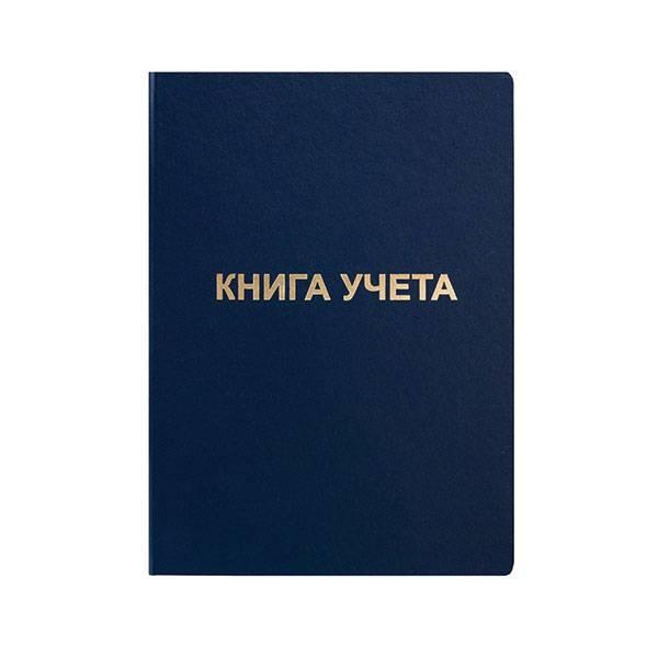 Книга учета inФОРМАТ А4 192 листа в клетку, офсет 60 г/м2, бумвинил, вертикальная, синяя