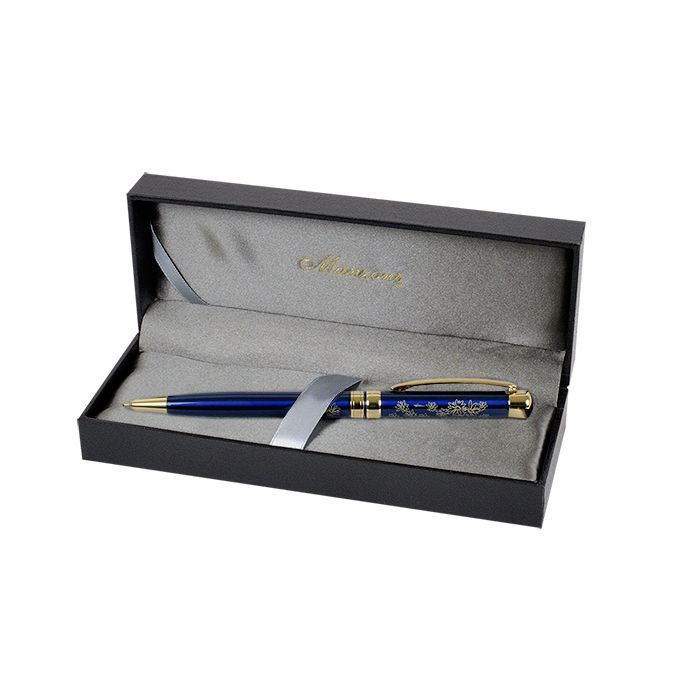 Шариковая ручка Manzoni Avellino, синяя, в футляре