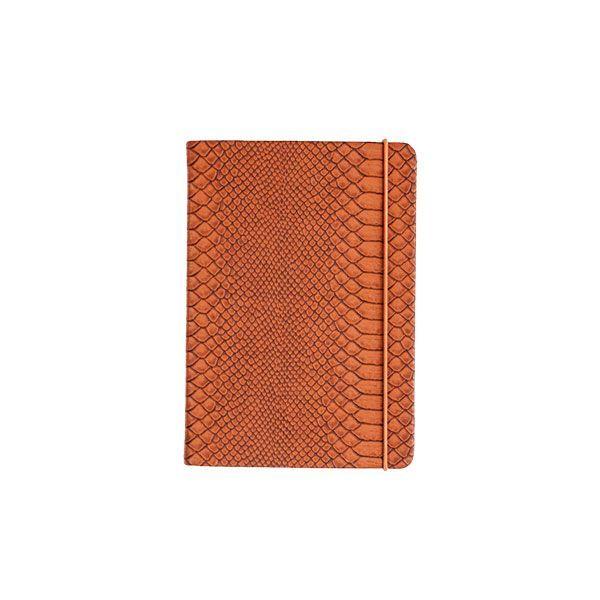 Бизнес-блокнот подарочный 151х211мм 80 листов CROCO твердая обложка тонированный блок 100 г/м2 на резинке ляссе карман