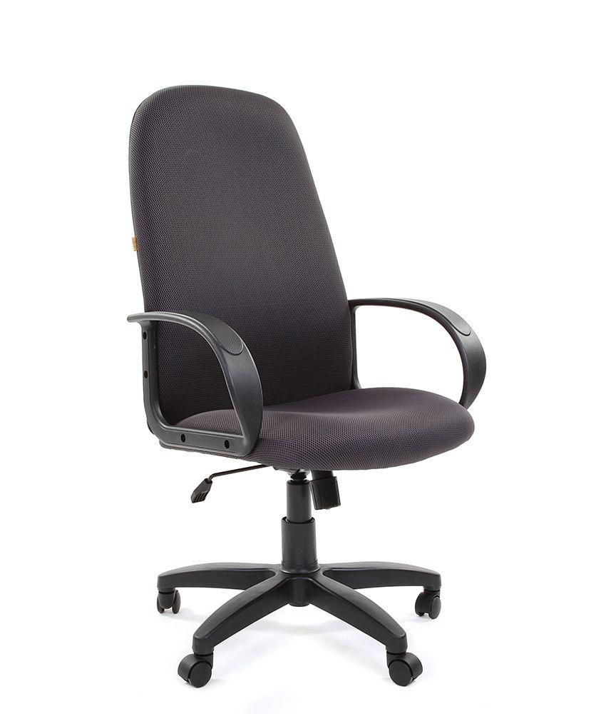 Кресло CHAIRMAN 279, черный, крестовина и подлокотники пластик, обивка ткань JP