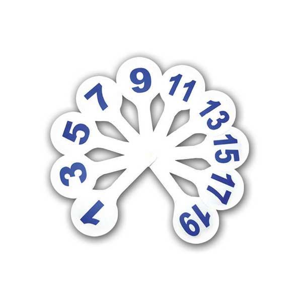 Касса-веер цифры до 20