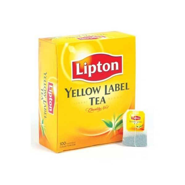 Чай LIPTON YELLOW LABEL черный 100 пакетиков