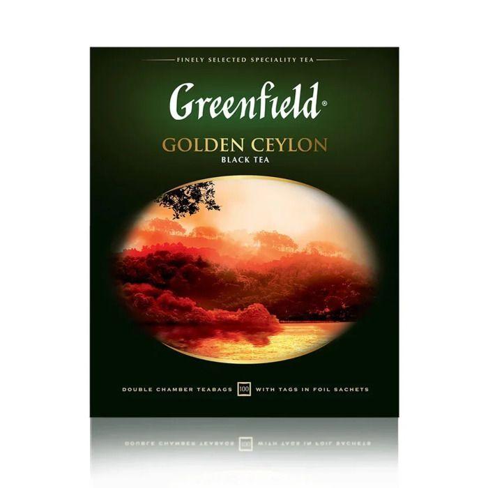 Greenfield Golden Ceylon Чай черный в пакетиках 100 шт бестселлер