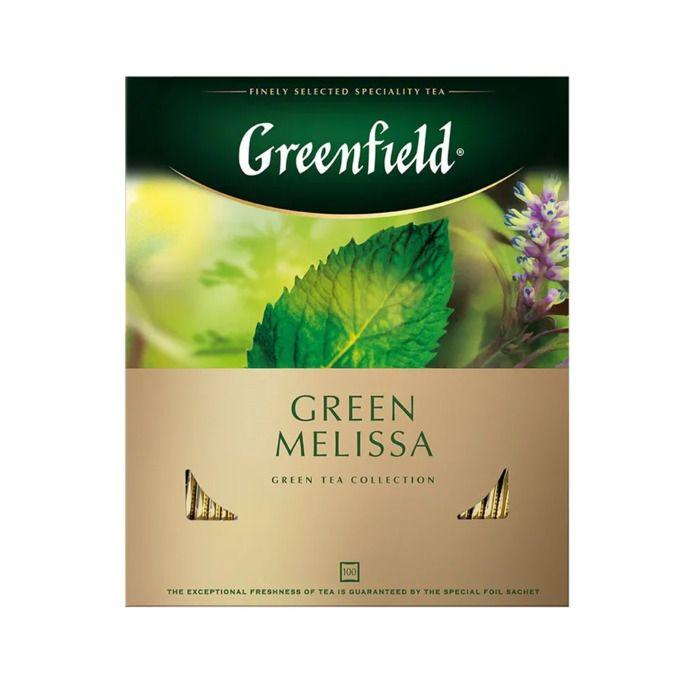 Greenfield Green Melissa Чай зеленый в пакетиках 100 шт