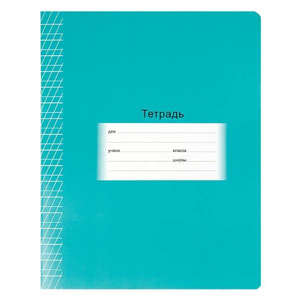 Тетрадь 12 листов ШКОЛЬНАЯ частая косая линия, обложка мелованный картон