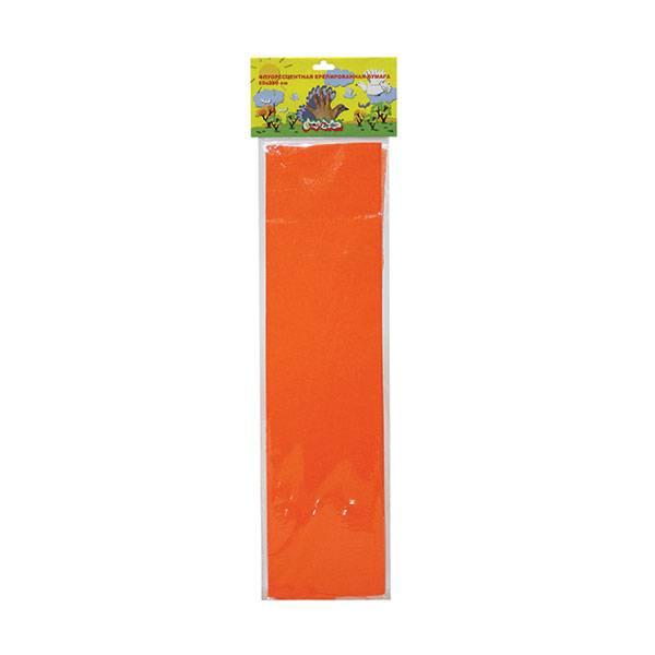 Бумага цветная крепированная флуоресцентная Каляка-Маляка 50х250 см, 5 цветов