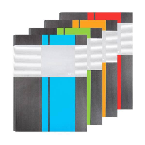 Тетрадь со сменным блоком 100 листов ЛИНЕР А4 на кольцах, твердая обложка