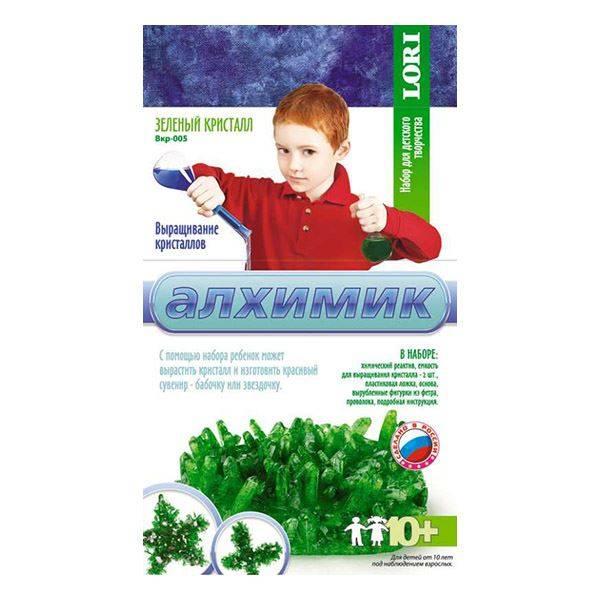 Выращивание кристаллов»Зеленый кристалл»